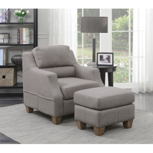 Accent Chair & Ottoman