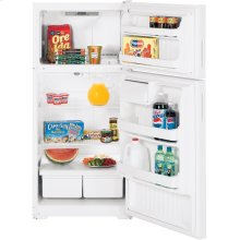 Hotpoint® 16.6 Cu. Ft. Top-Freezer Refrigerator (This is a Stock Photo, actual unit (s) appearance may contain cosmetic blemishes. Please call store if you would like actual pictures). This unit carries our 6 month warranty, MANUFACTURER WARRANTY and REBATE NOT VALID with this item. ISI 34486