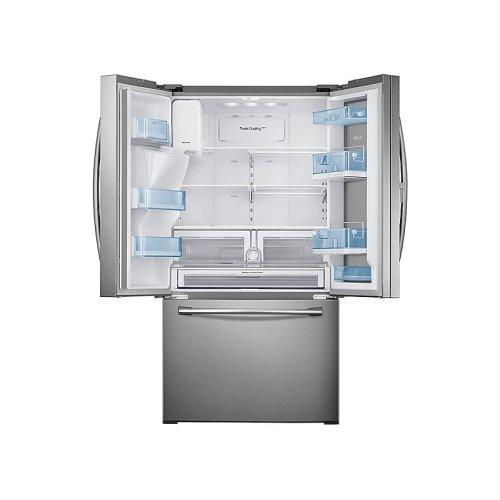 28 cu. ft. Food Showcase 3-Door French Door Refrigerator in Stainless Steel