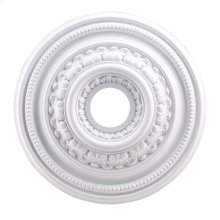 English Study Medallion 18 Inch in White Finish