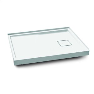 "Rectangular acrylic shower base 48"" x 32"" - Left drain Product Image"