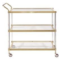 Brushed Gold Bar Server Cart