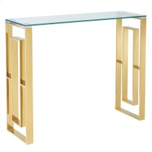 Eros Console Table in Gold