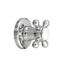 Ashbee 1/2 Inch or 3/4 Inch Wall Valve Trim with Cross Handle - Polished Chrome