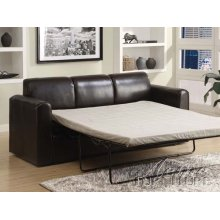 Costa Espresso PU Sofa w/Queen Sleeper Set