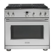"Monogram 36"" Dual-Fuel Professional Range with 4 Burners and Grill (Natural Gas) - AVAILABLE EARLY 2020 Product Image"