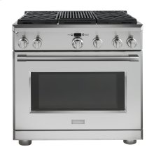 """Monogram 36"""" Dual-Fuel Professional Range with 4 Burners and Grill (Natural Gas) - AVAILABLE EARLY 2020"""