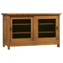 Glass Doors Sliding Door TV Console