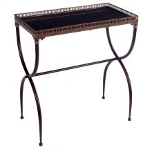 Rectangular Black X-Leg Accent Table