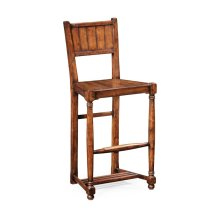 Planked Walnut Barstool with Baluster Legs (Side)