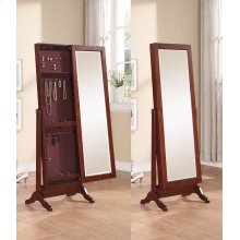 Cherry Sliding Jewelry Armoire