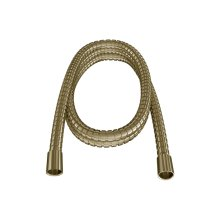 """60"""" Double Spiral Brass Hose - Brushed Brass"""