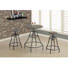 DINING SET - 3PCS SET / DISTRESSED BROWN / BRONZE METAL Product Image