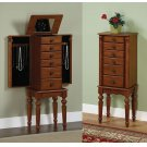 """Lightly Distressed """"Deep Cherry"""" Jewelry Armoire Product Image"""