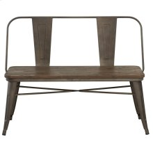 Modus Bench With Back in Gunmetal