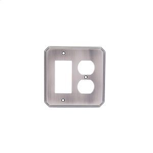 Single GFI/ Single Duplex Deco Switch Plate - Pewter Product Image