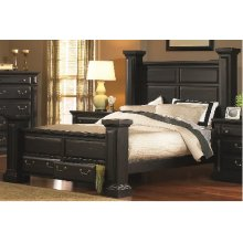 6/6 King Headboard - Antique Black Finish