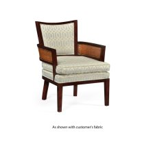 Sonokelling & Rattan Occasional Chair, Upholstered in COM