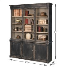 Brothers Black Bookcase