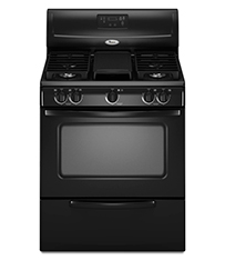 Black 4.4 cu. ft. Standard Clean Freestanding Gas Range