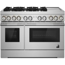 "48"" RISE™ Dual-Fuel Professional-Style Range with Chrome-Infused Griddle, RISE"