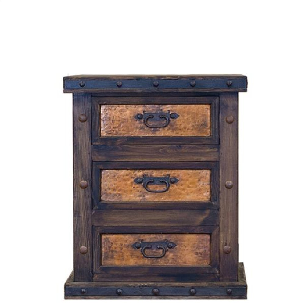 Nightstand W/Copper Drawers