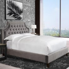 Jasmine Flannel (Grey) Queen Bed 5/0