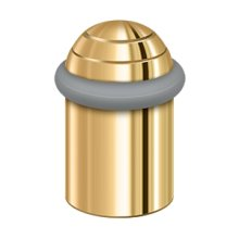 "Round universal Floor Bumper Dome Cap 2"", Solid Brass - PVD Polished Brass"