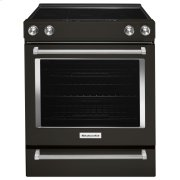 30-Inch 5-Element Electric Slide-In Convection Range - Black Stainless Steel with PrintShield™ Finish Product Image