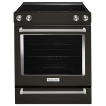 30-Inch 5-Element Electric Slide-In Convection Range - Black Stainless Steel with PrintShield™ Finish