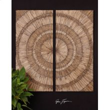 Lanciano Wood Wall Panels, S/2