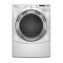 Silver Metallic-on-White Whirlpool® Duet® 7.2 cu. ft. Dryer (This is a Stock Photo, actual unit (s) appearance may contain cosmetic blemishes. Please call store if you would like actual pictures). This unit carries our 6 month warranty, MANUFACTURER WARRANTY and REBATE NOT VALID with this item. ISI 34673