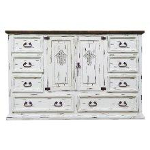 White Scraped Dresser Cross