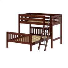 Twin/Full Bunk w/ Angle Ladder : Twin/Full : Chestnut : Slat