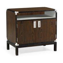 Campaign Style Dark Santos Rosewood Bedside Cabinet