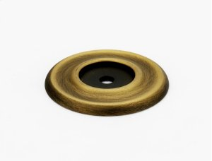 Traditional Backplate A615-38 - Unlacquered Brass Product Image