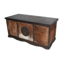Executive Cowhide Desk W/ Star