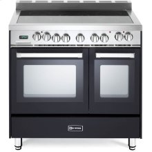 "Matte Black 36"" Electric Double Oven Range"