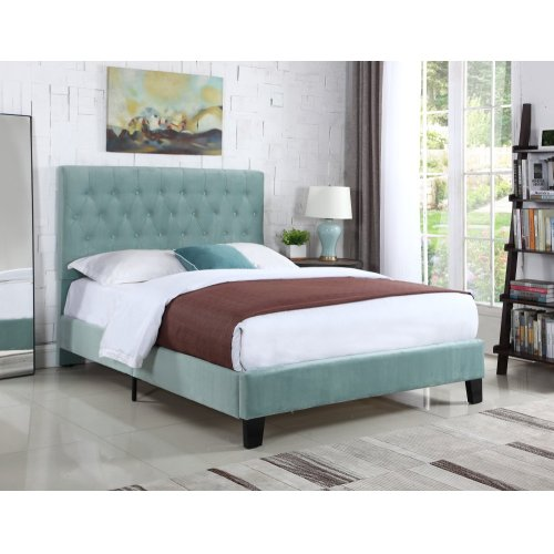 Emerald Home Amelia Upholstered Bed Kit Cal King Navy B128-13hbfbr-24