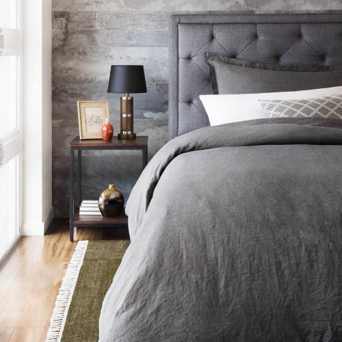 French Linen Duvet Set - King Flax