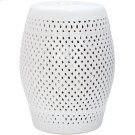Diamond Garden Stool - White Product Image