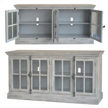 Harrison Light Grey Wash 4 Door Media Console