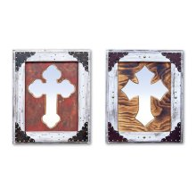 White Cross Mirror