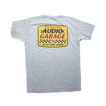 Gray T-Shirt w/ Audio Garage Graphic-L