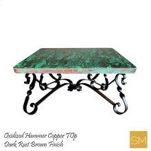 Hammer Copper Square Coffee Table