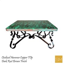 Hammer Copper Square Coffee Table