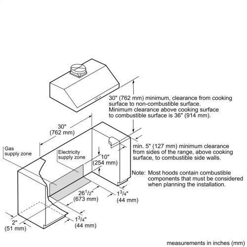 30-Inch Pro Harmony® Standard Depth Dual Fuel Range