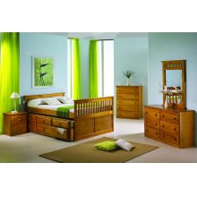 Full Size Mission Captains Trundle Bed