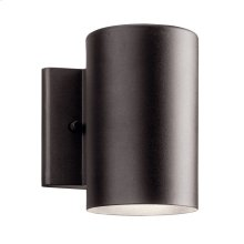 "Cylinder 3000K LED 7"" Wall Light Textured Architectural Bronze"