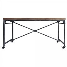 Armen Living Enzo Industrial Dining Table